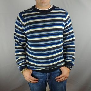 NWT MENS TOMMY HILFIGER Shirt SWEATER sz Med Strip